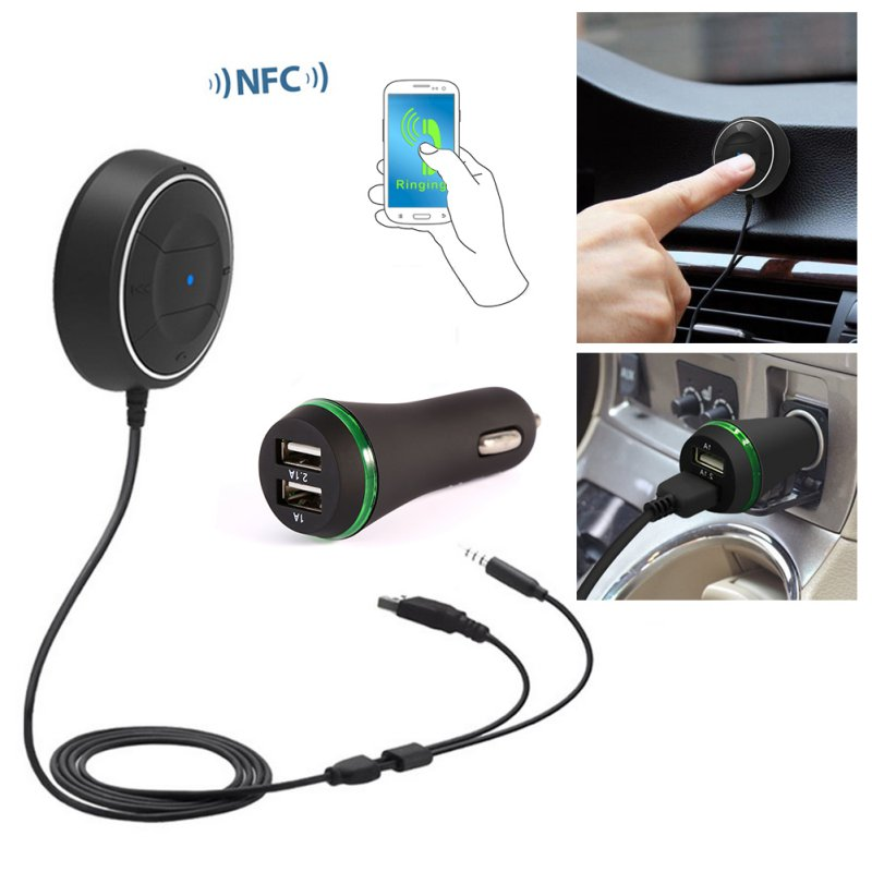 Bluetooth 4.0 Sem Fio Receptor de Música 3.5mm Adaptador Handsfree Car AUX Speaker