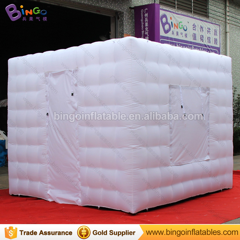 Free Delivery all white inflatable photo booth tent type 3X3X2.4 Meters LED lighting blow up cube photo booth for party toy tent free shipping oxford material wedding party decoration inflatable the photo booth