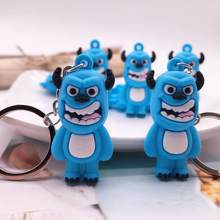 2019 Cute Q Version Monsters Inc. Monsters University Mike Wazowski Sully Keychain Action Figure Model Toys Dolls Gift Key rings(China)
