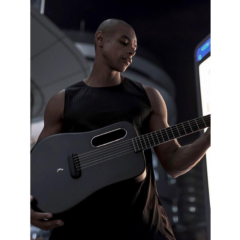 Airsonic Matériel Ballade Guitare 36-pouces Débutant Homme Et Adulte Étudiant Carbone fibre Boîte Voyage Guitare