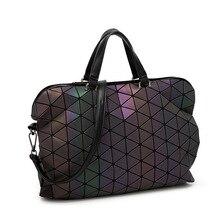 Европейский стиль Большой дамы сумки tote Марка Сумки Высокого Качества Женщины Сумка Геометрической Портфель Сумки Мужчины