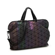 European style Big ladies hand bags tote Brand High Quality Handbag Women Bag Geometric Briefcase Bags Men