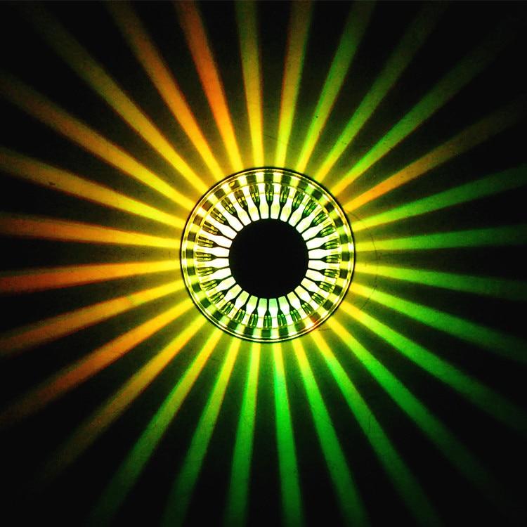 ФОТО LED Spotlight lamps colorful color change lamp wall lamp ceiling hallway entrance hall lamp KTV wall corridor modeling lights-ZA