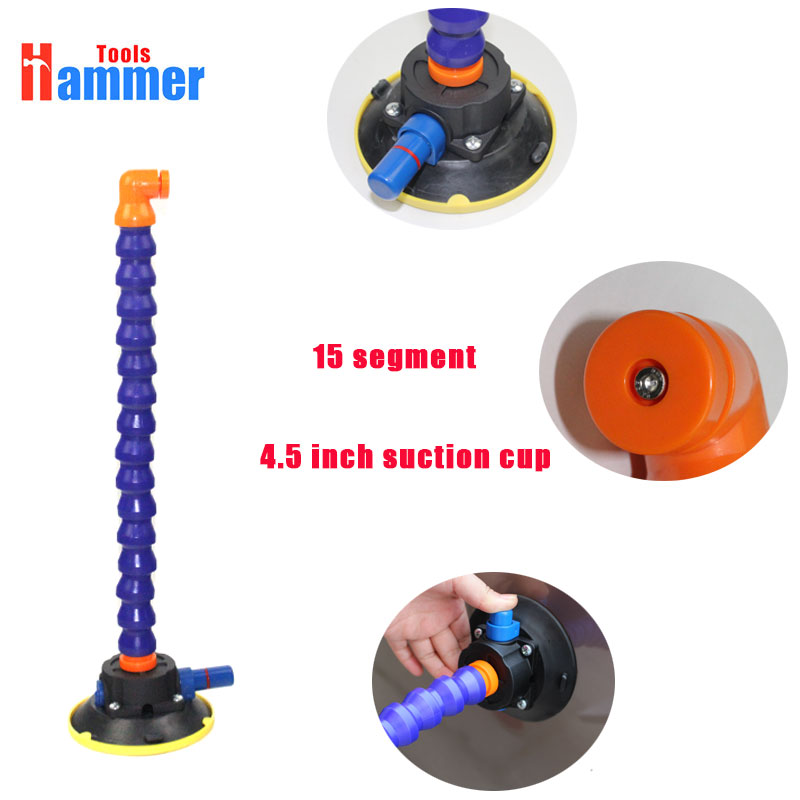 4.5 inch Heavy Duty Hand Pump Suction Cup with flexible gooseneck pipe for pdr lamp