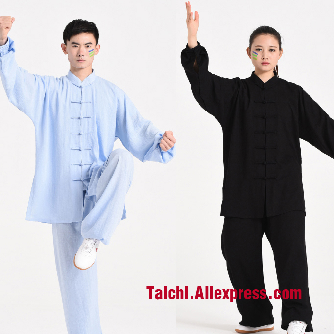 Handmade Linen Cotten Rayon Tai Chi Uniform Wushu Breathable Kung Fu Martial Art Suit