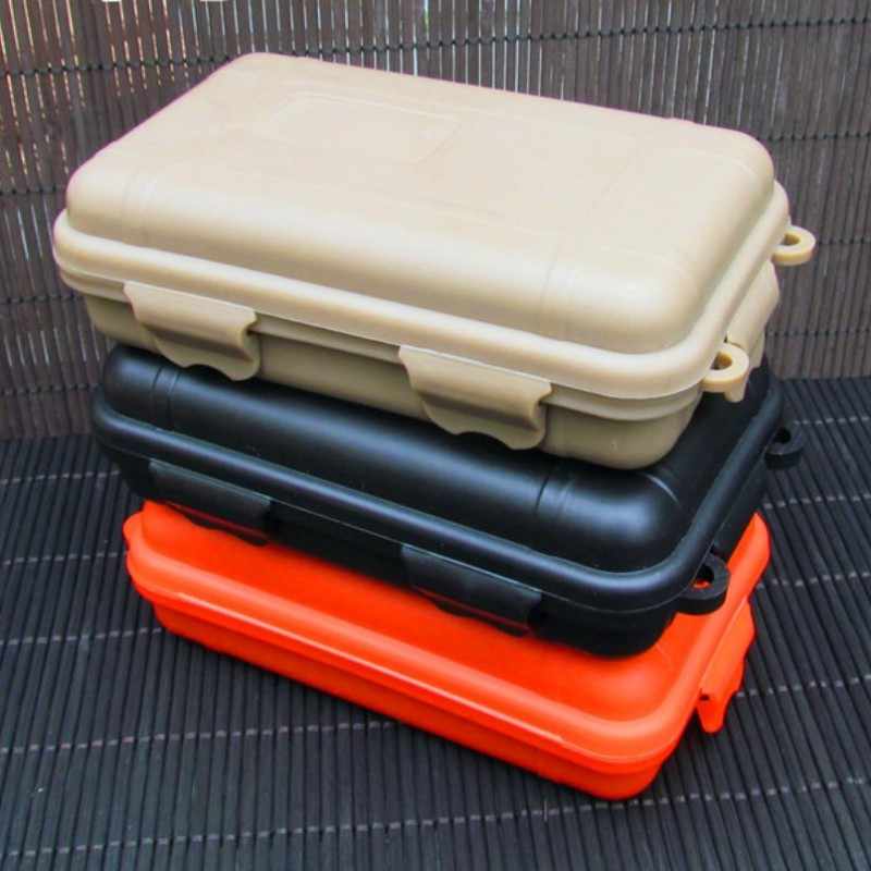 Waterproof Plastic Tool Case Phone Case Outdoor Shockproof Airtight Container Storage Box With Foam Lining