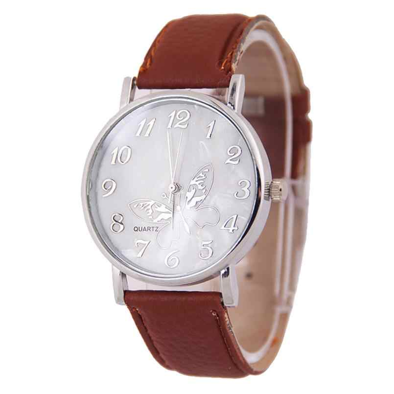 BAOLANDE นาฬิกาแฟชั่น 2018 Embossed นาฬิกาข้อมือผีเสื้อหรูหรานาฬิกาสุภาพสตรีนาฬิกาข้อมือควอตซ์ drop shipping