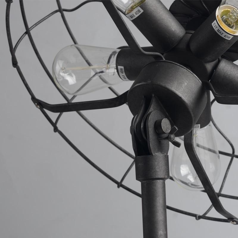 Edison E27 лампа настольная лампа Классическая Ностальгический Паровая промышленные электронные Настольный вентилятор свет Винтаж лампы 5 Огн...