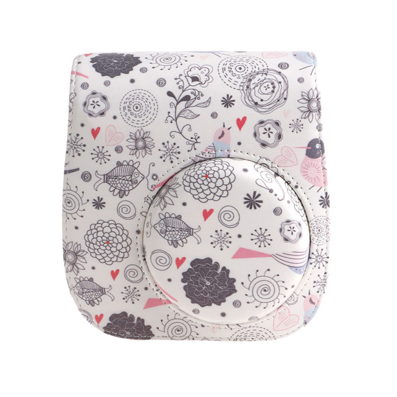 Newest Camera Bag Case Animals And Plants Pattern For Instax Mini 8/Mini 8s Camera #4XFC# Drop Ship