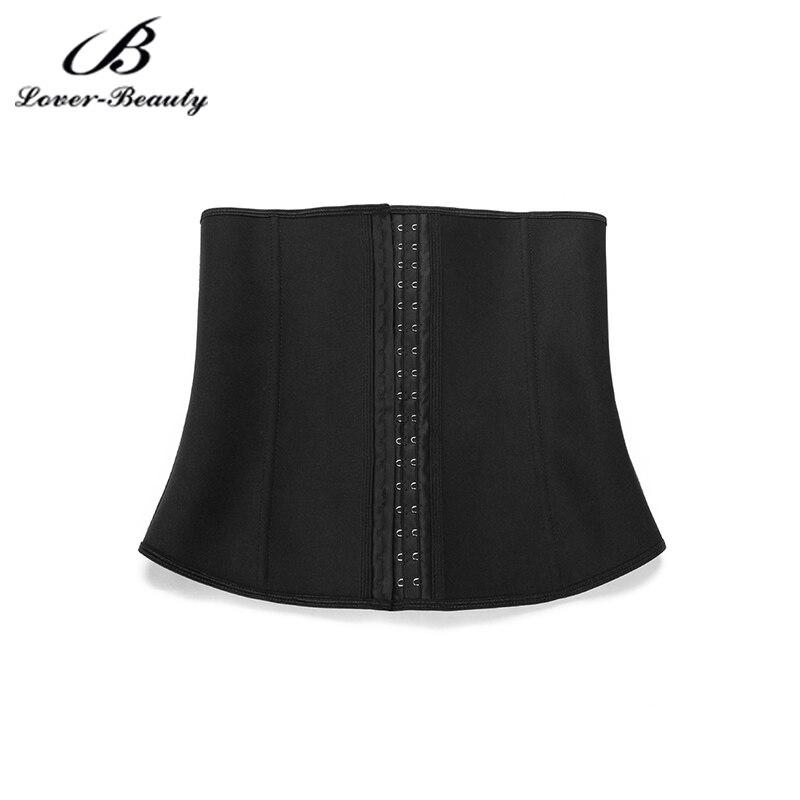 Amant beauté Fitness shaper femme corset taille ceinture 3 rangées de boucles, 4 côtes en acier, 3 en 1 tissu taille entraînement-A - 4