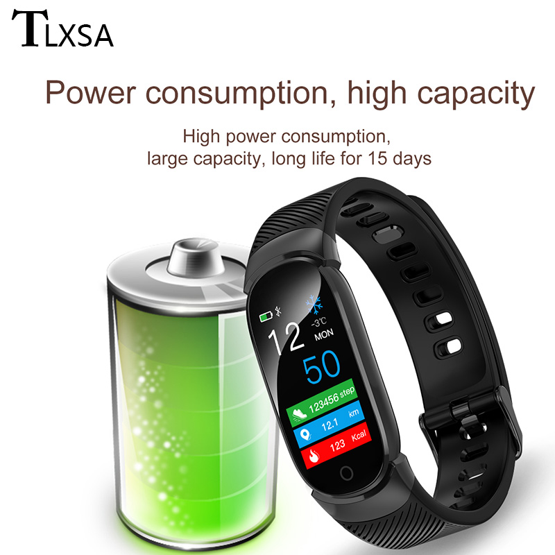 Image 5 - TLXSA Smart Bracelet Fitness Tracker Heart Rate Monitor Smart Band Waterproof Pedometer Sport Wristband For Women Men Smartwatch-in Smart Wristbands from Consumer Electronics