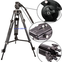 WEIFENG 717 1580mm Fluid head tripod Video camcorder professional tripod 6kg bear weight with Fluid Bowl Pan Head Carry Bag