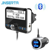JINSERTA Digital DAB Radio Broadcasting Receiver Bluetooth 4.2 Transmitter Support QC3.0 Fast Charger TF Card Play