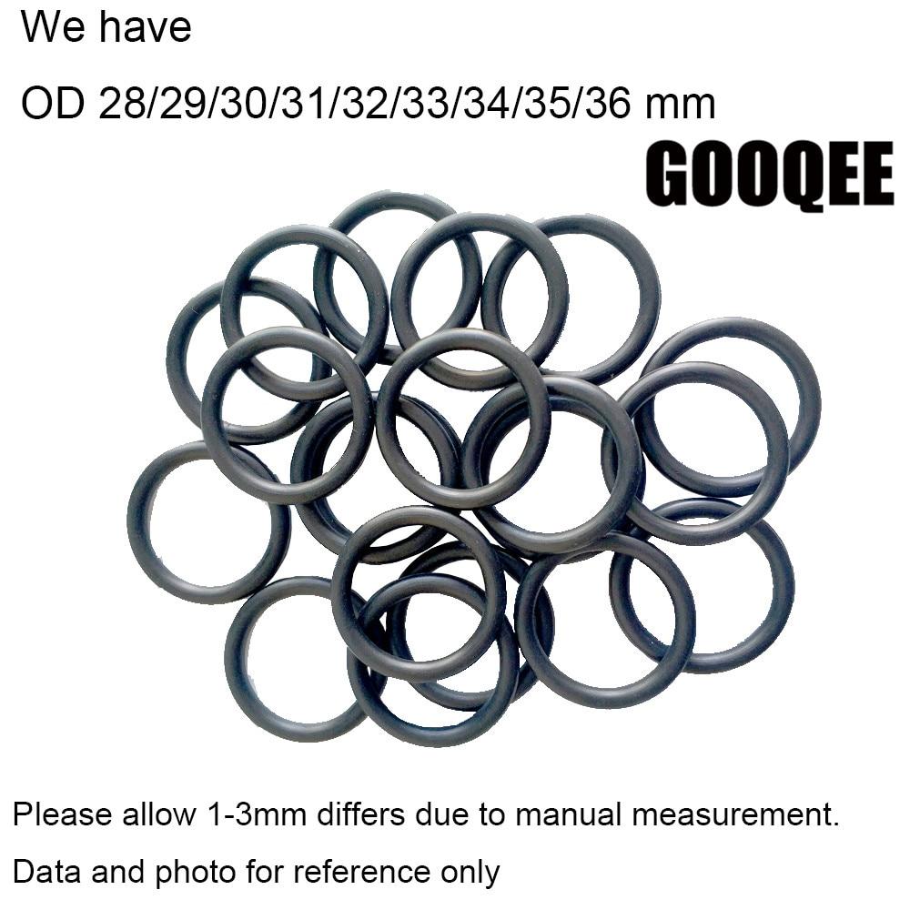 50Pcs Black Round Nitrile Butadiene Rubber NBR O-Ring 17mm OD 2.4mm Width