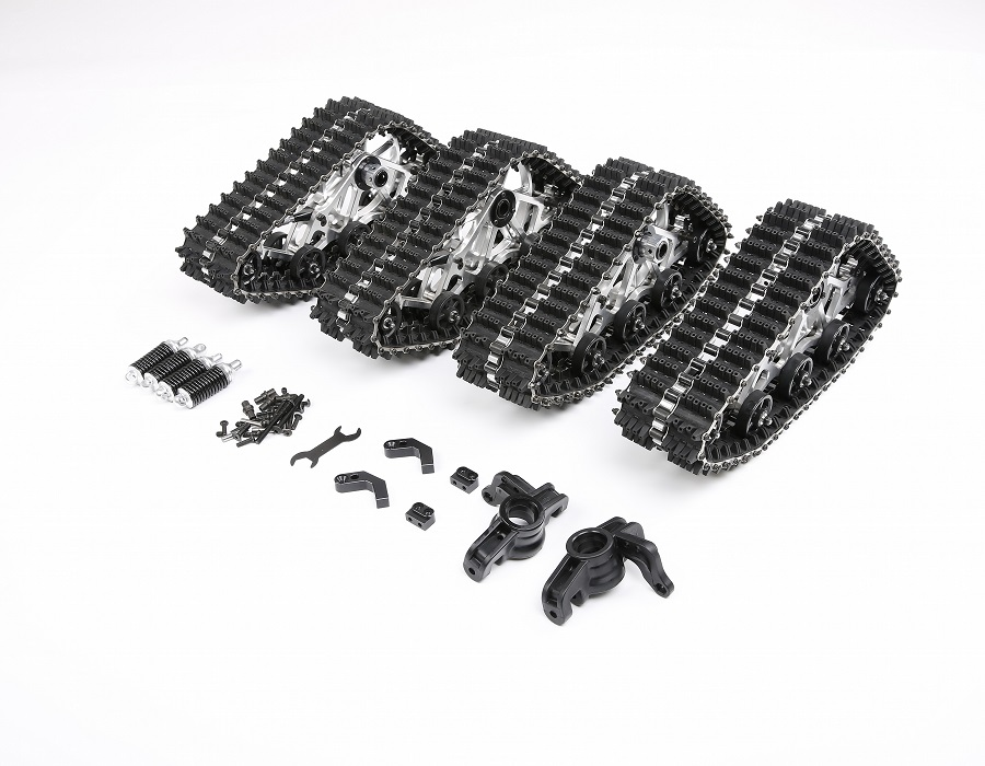 Snowmobile Tires Conversion Kit For 1/5 Scale Losi 5ive T ROVAN LT KM X2 RC CAR Update PARTS