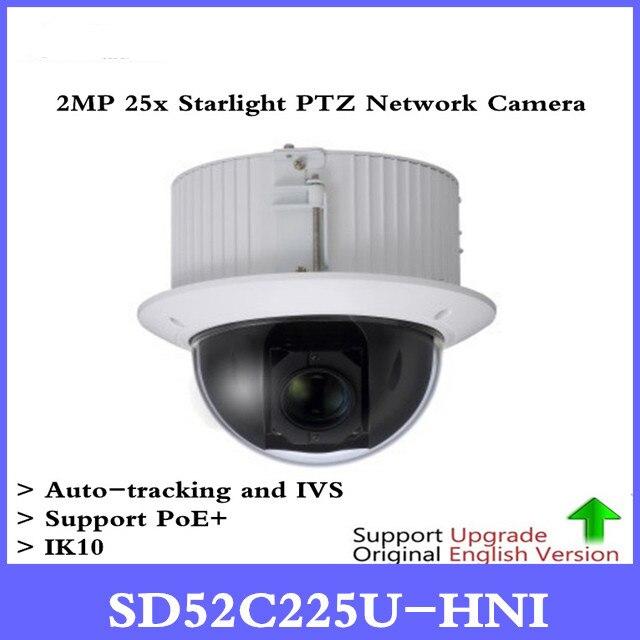 DH SD52C225U-HNI 2MP 25x Starlight PTZ сети Камера Поддержка PoE + автоматического слежения и IVS IK10 Бесплатная DHL доставка