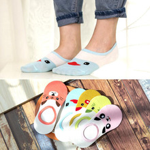 5pcs/lot Womens socks  Spring summer new ladies cartoon fashion casual cotton non-slip breathable invisible 1802