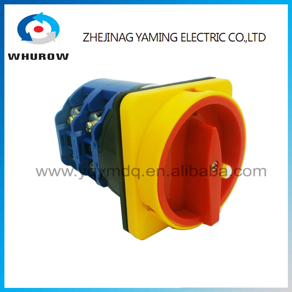 YMW26-125/2GS Universal Rotary switch knob 2 position 0-1 OFF-ON 125A 2 phase padlock High quality changeover cam switch ui 660v ith 125a on off 2 position rotary cam changeover switch lw28 125 3