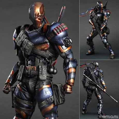 Jogue Arts KAI DC Comics Batman: Origens Arkham Exterminador PVC Action Figure Collectible Modelo Toy 27 cm
