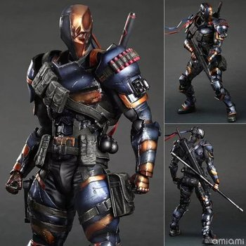 Play Arts KAI DC Comics Бэтмен Arkham Origins Deathstroke ПВХ фигурка Коллекционная модель игрушки 27 см
