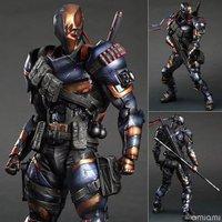 Play Arts KAI DC Comics Batman: Arkham Origins Deathstroke PVC Action Figure Collectible Model Toy 27cm