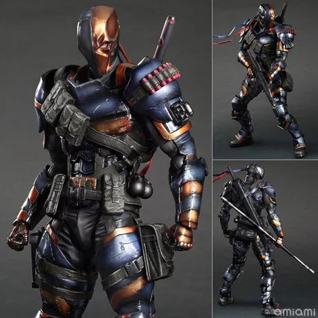 SQUARE ENIX Play Arts KAI DC Comics Batman: Arkham Origins Deathstroke PVC Action Figure Collectible Model Toy 27cm playarts kai batman arkham knight batman blue limited ver superhero pvc action figure collectible model boy s favorite toy 28cm