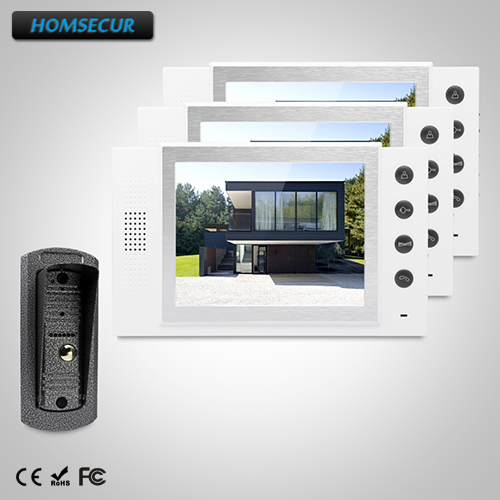 HOMSECUR 8 Video&Audio Smart Doorbell with Dual-way Intercom 1C3M for Apartment  TC041 +  TM801-WHOMSECUR 8 Video&Audio Smart Doorbell with Dual-way Intercom 1C3M for Apartment  TC041 +  TM801-W