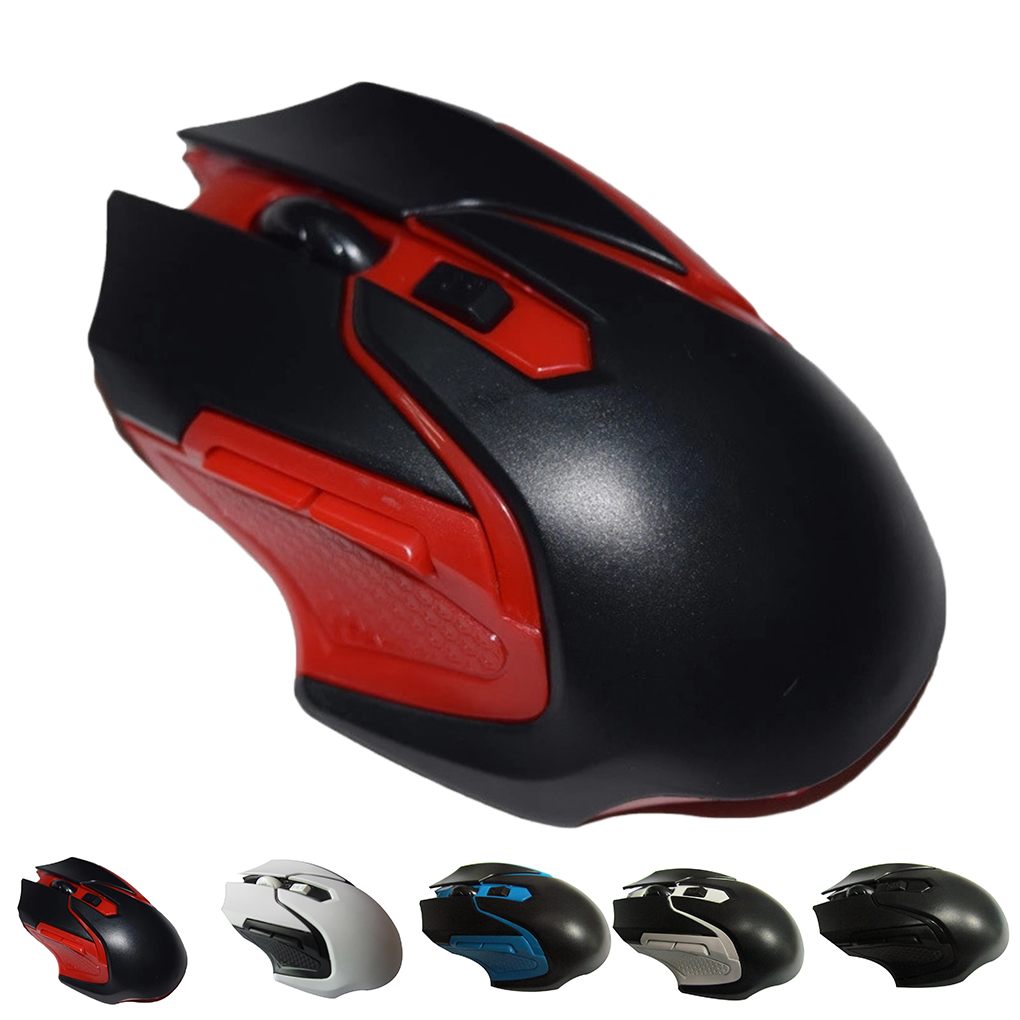 Wireless Gaming Mouse 6 Buttons Ergonomic 2.4GHz Cordless Game Mice Replacement For PC Desktop Laptop Windows Computer