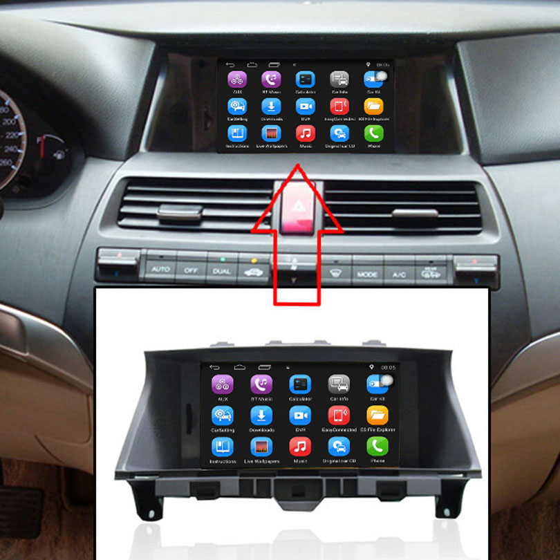 8 Inch Car Gps Navigation For Honda Accord 2008 2017 Radio Video Player Support Wifi Intelligent Mobile Phone Mirror Link