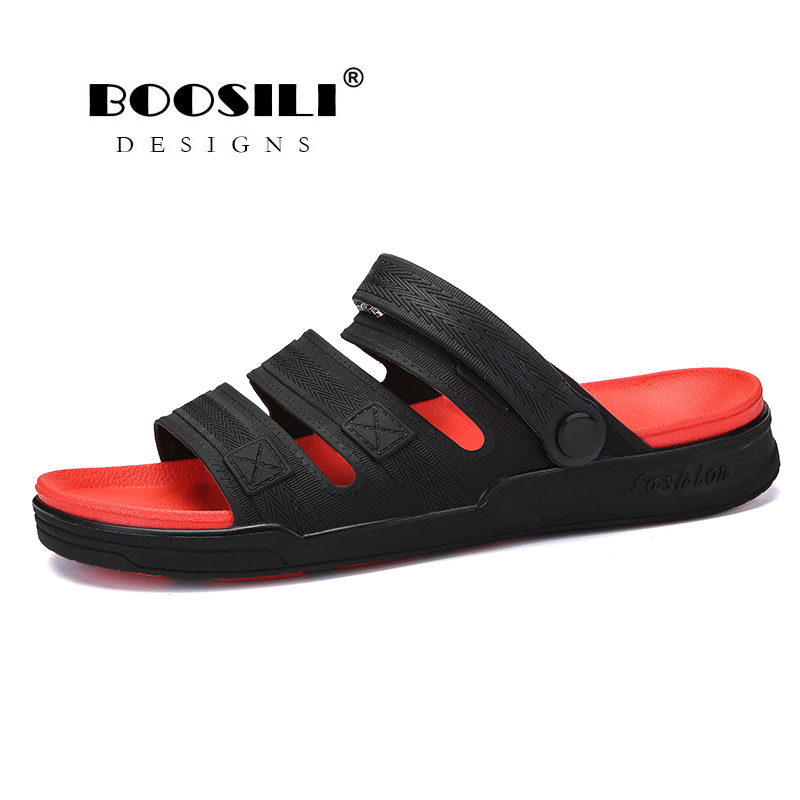BOOSILI Hot sale men's cloth cool slippers Spring /Summer tide male shoes High quality Breathable