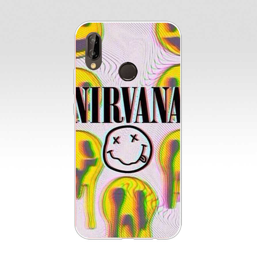 162SD NIRVANA Rock und roll Band Kurt Cobain Weichen Silikon Tpu Abdeckung Fall für Honor 10 huawei p mate 10 20 30 lite y5 y6 prime