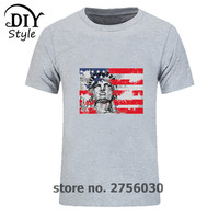 Casual Design Shirts American Flag 4th Of July Independence Day T Shirts Men Kanye West 3d