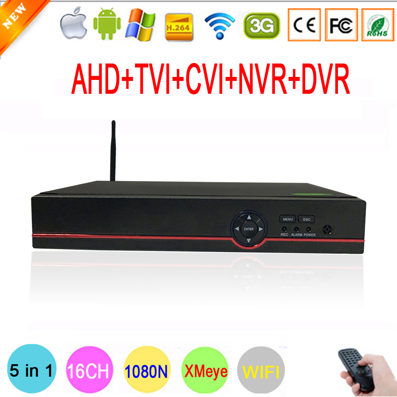 Red font b Panel b font 1080P Surveillance cameras Hi3521A XMeye WIFI DVR 16 Channel 5