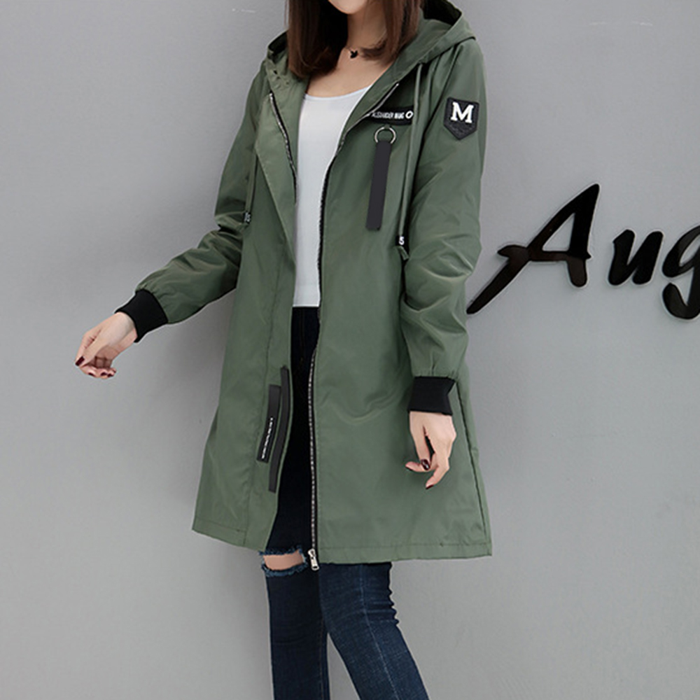 2 Colors Pregnant Women Autumn Winter Warm Trench Long Sleeve Casual Loose Hoodies Outerwear Slim Medium Coat Baseball Uniform pregnant women autumn and winter new windbreaker jacket pregnant women loose casual jacket pregnant women long cotton coat