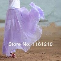 Bán buôn 2016 Hoa Oải Hương Wedding party Maxi Váy, phù dâu, dài voan váy cộng với kích thước có sẵn