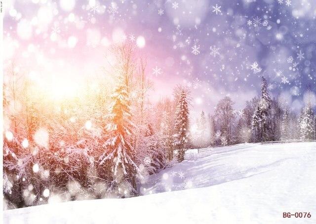 5x7ft vinyl snowflake sinar matahari foto pemandangan