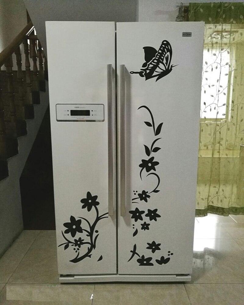 Korkealaatuinen luova jääkaappi musta tarra perhonen kuvio seinä - Kodin sisustus - Valokuva 3