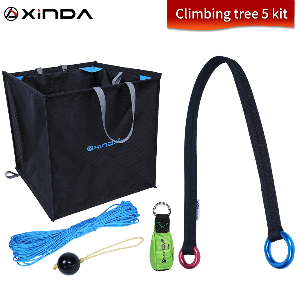 Xinda Climbing Tree 5 Set Garden Tree Climbing Training Extension Rope Set Tree Top Rope Collection
