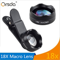Orsda 18X Macro Lens For Closeup Pictures Universal Clip On Cell Phone Camera Lenses For IPhone