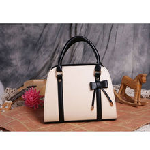 New women Handbag  top-handle crossbody bag Europe and America Fashion Bow bag PU leather Ladies bowknot bag Shoulder  tote bag