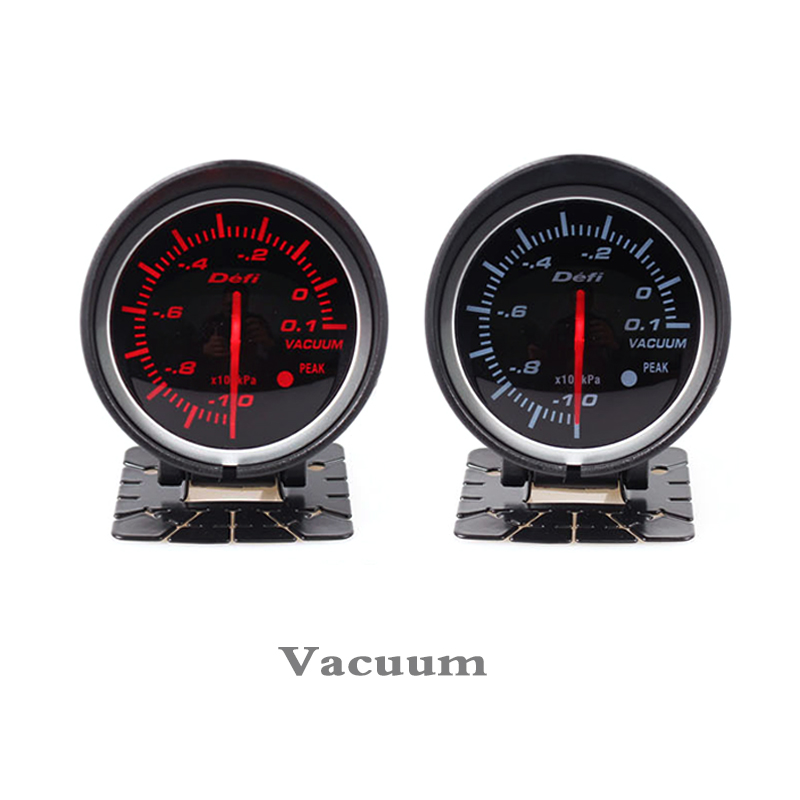60mm def advanced air fuel gauge Amber red// white lights black face auto meter