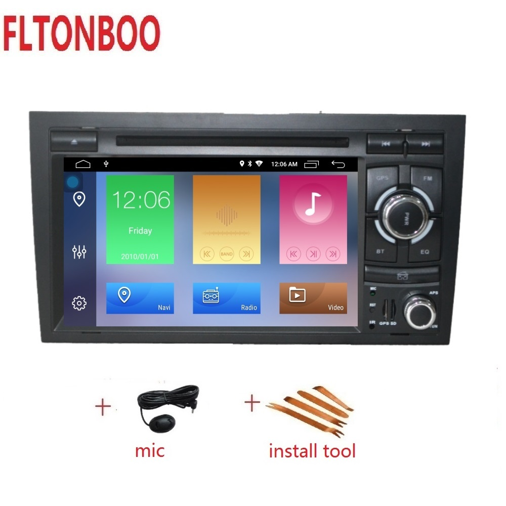 7 Android 9 Car GPS Navigation radio dvd player for AUDI A4 Canbus bluetooth steering wheel