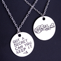 2016 Drop Shipping New America Stylish Television Pretty Little Liars Got A Secret Can You Keep It Message Pendant Necklace