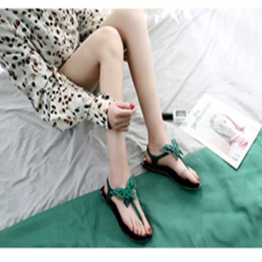 2019 summer new fashion wild casual shoes trend butterfly shoes comfortable flat sandals women