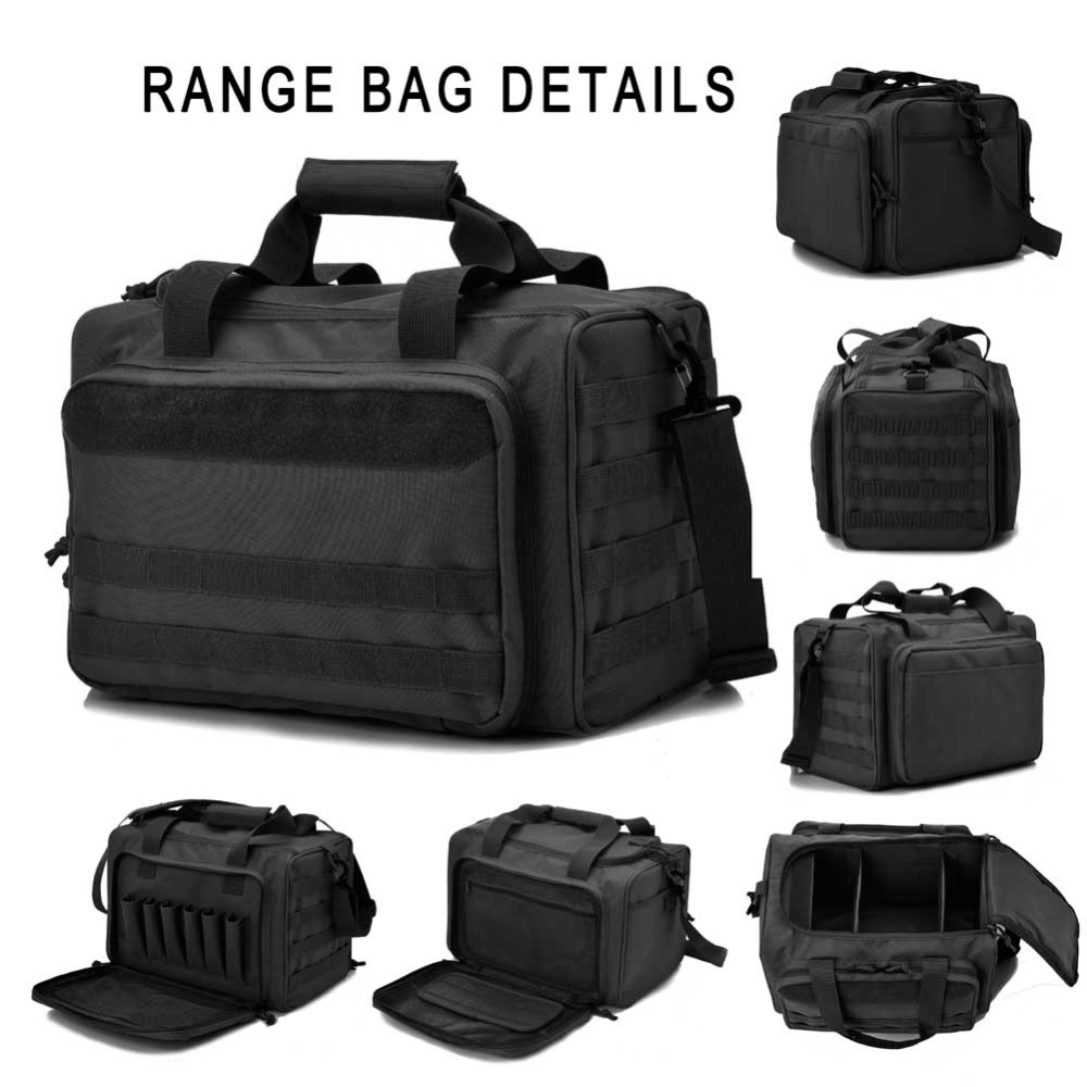 Tactical Gun Shooting Range Bag Deluxe Pistol Duffle Bags Black In Hunting From Sports Entertainment On Aliexpress Alibaba Group