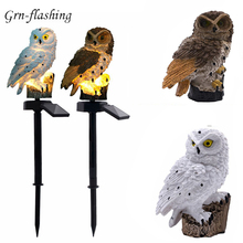 New Garden light Owl LED Solar bird lamp powered Panel Waterproof IP65 Outdoor Led Path Lawn Yard Home decoration