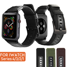 Laforuta Nylon Strap For  Apple Watch Band 40mm 44mm iWatch Bracelet Belt High Quality Sport Wristbands Series 4 3 2 1