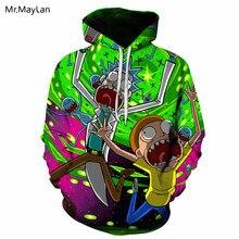 Hiphop Cartoon Funny Rick and Morty 3D Print Jacket Hipster Hoodie Men/Women Streetwear Pullover Pocket Sweatshirt Boys Coat 5XL