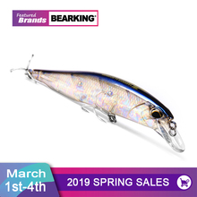 Bearking A+ 2017 hot model fishing lures hard bait 7color for choose 10cm 15g minnow quality professional minnow depth0 8-1 5m cheap River Reservoir Pond stream Lake O-BK-Mrelis Artificial Bait 10cm 3 94in 15g 0 53oz 80cm-150 New brand ABS this bait is armed Saltwater 2x strong Flat ring