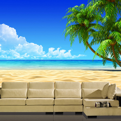 Custom Photo Wallpaper TV Background Living Room Sofa Video Wall 3D Stereo Nature Scenery Seaview